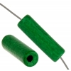 Ceramic Bead Cylinder 17x5mm Green